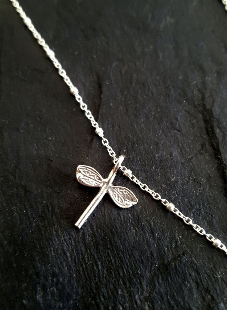 Dragonfly Necklace Silver by INNOCENTIJEWELRY on Etsy