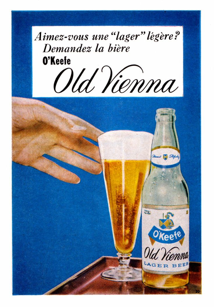 O'Keefe's Old Vienna beer ad from 1958.