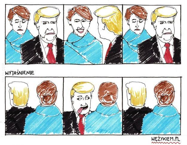 Tak było... Melania Trump #wyjaśnienie #Melania #Trump #uśmiech #mina