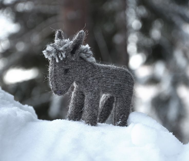 Knitted toy donkey #toy pattern #doll knitted #toy knitting pattern