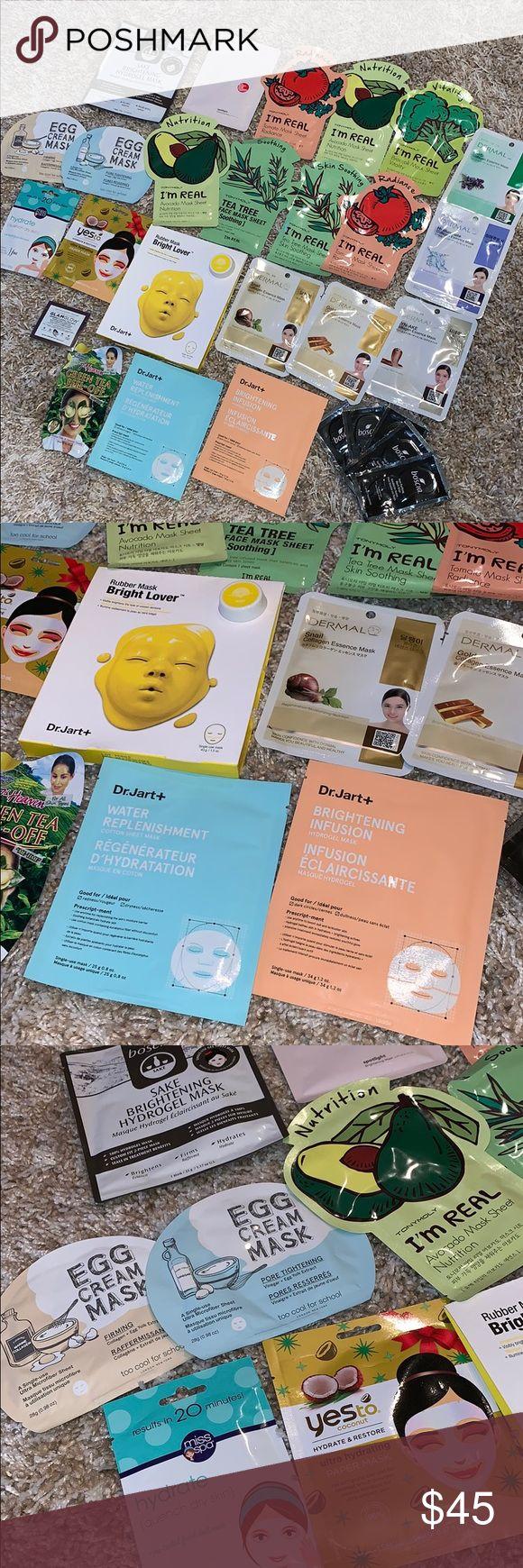 Sheet mask lot! Sheet mask, Saturday skin, Makeup tools