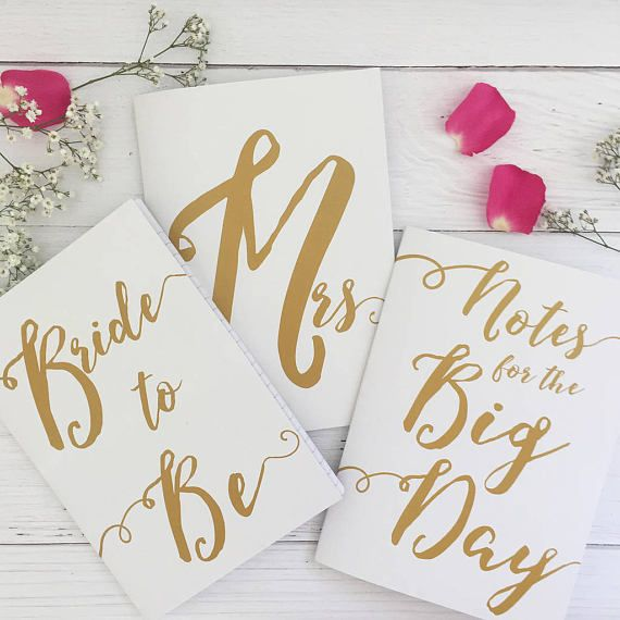 Keep your wedding notes organised with our set of three sweet wedding notebooks.
