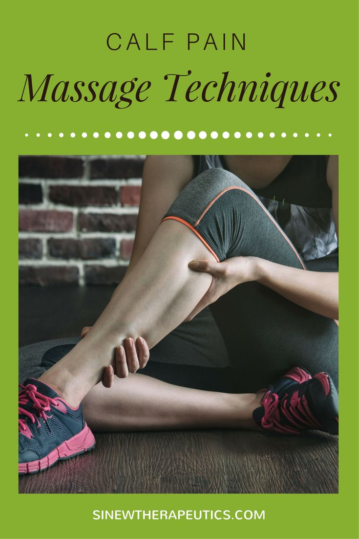 These massage techniques are of great value in calf pain relief; circulation stimulation; dispersing blood and fluid accumulations; swelling reduction; and relaxing muscle spasms, especially when used alongside the Sinew Therapeutics liniments and soaks.