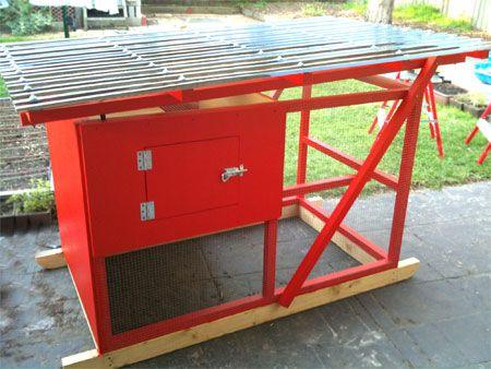 Australia gallinero construido utilizando los planes de for Bricolaje y jardin