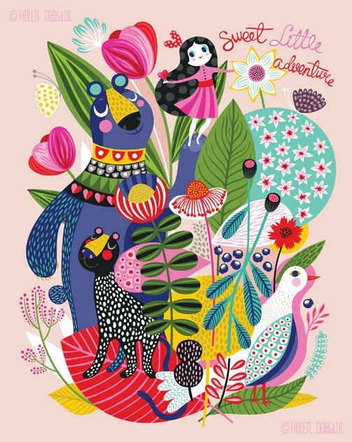 Adventure Sprouts... limited edition giclee print by helendardik, $25.00