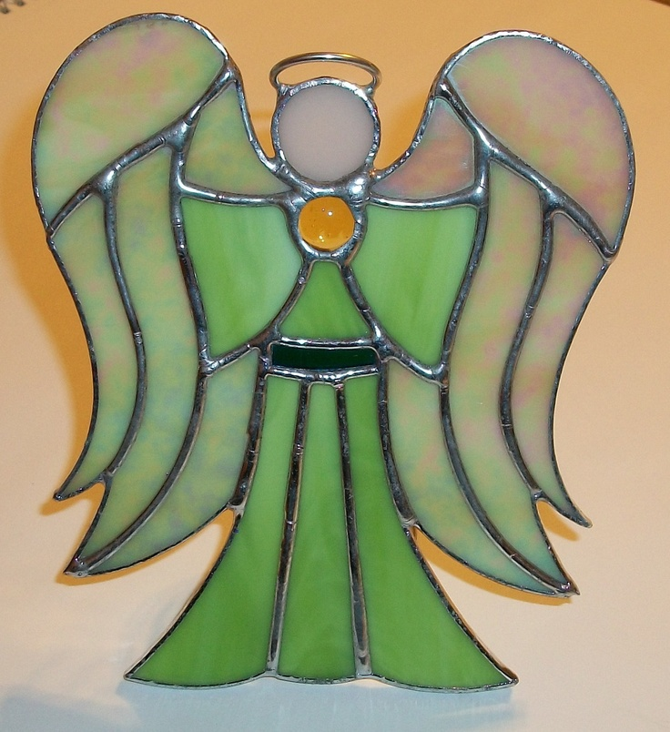 Angel Tree Topper Stained Glass Angel by OneStopTopperShop on Etsy, $55.00