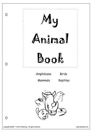 Snapshot image of the cover of My Animal Book printable book from www.tlsbooks.com