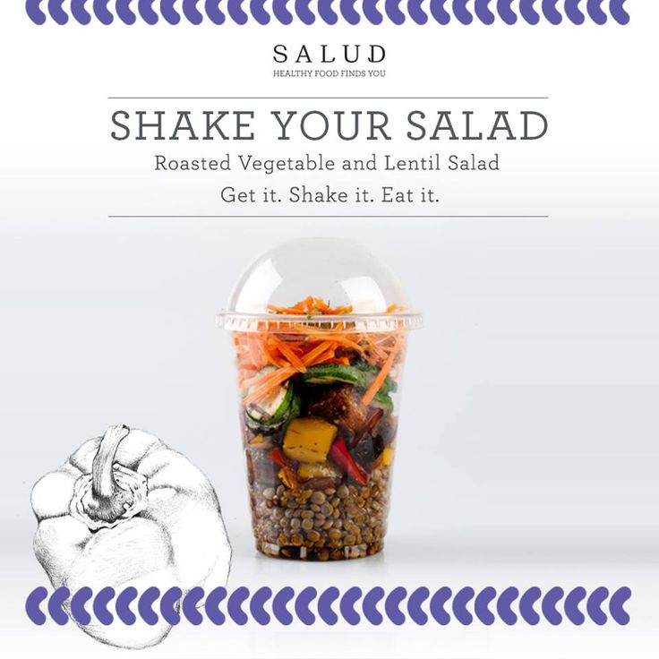 Don't have time to make a side dish with your meal Monday night? Order the Roasted Vegetable and Lentil Salad and accompany as delicious and healthy side to any main meal and Voila!!  www.salud.co.za