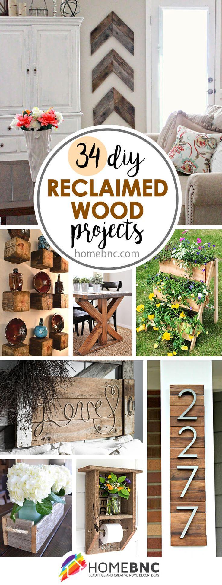 DIY Reclaimed Wood Ideas