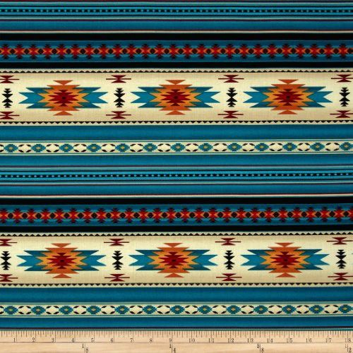 Tucson Stone Turquoise Fabric By The Yard