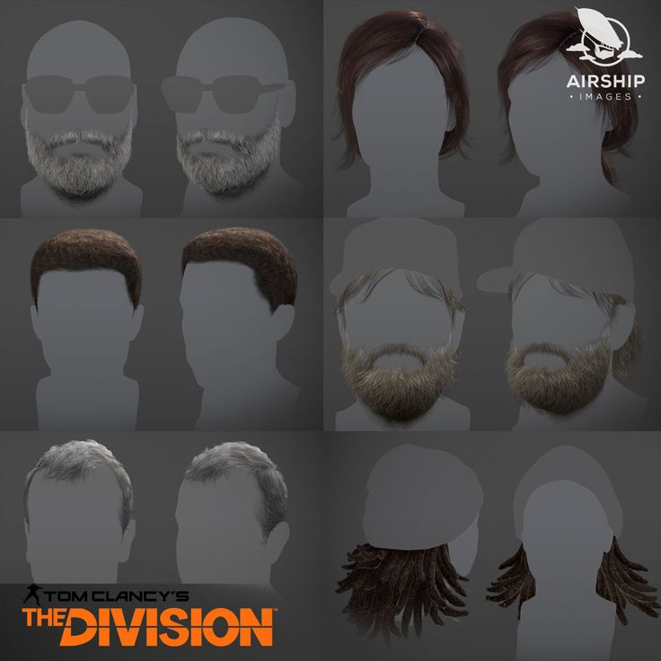 The Division - Cinematic hairstyles, Airship Images on ArtStation at https://www.artstation.com/artwork/WggyQ