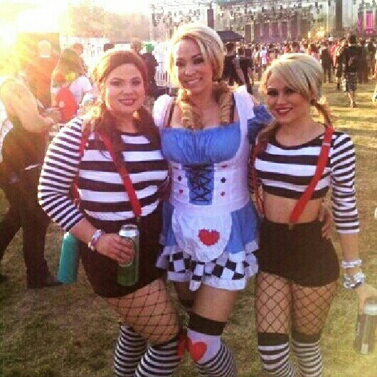 My girls & I at beyond Wonderland Alice Tweedledee Tweedledum