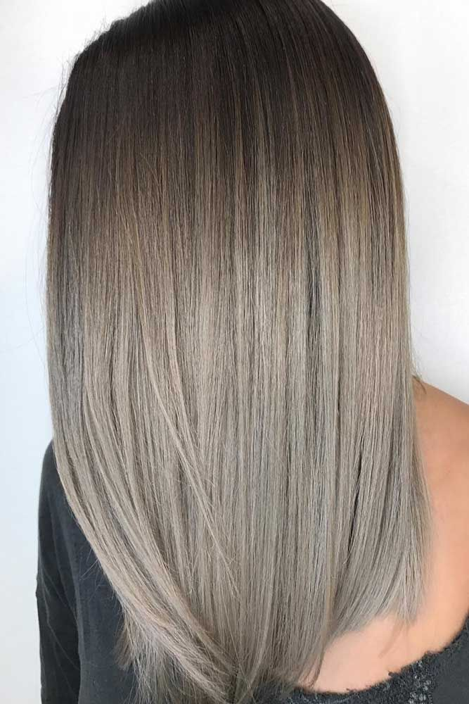 #Color Trendy Hair Color : Ash blonde hair is quite popular these days. You will just need to pick the flat...