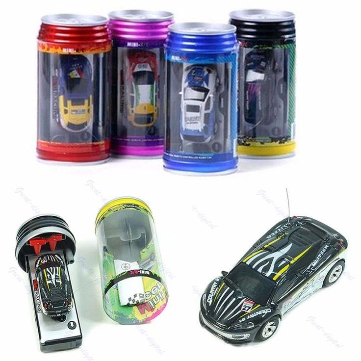 Coke Can Mini RC Radio Remote Control Micro Vehicle Boy Racing Car Toy Gift Дистанционное Управление Машина