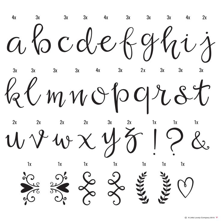 Letter Set Script  - A Little Lovely Company - RumAttÄlska.se