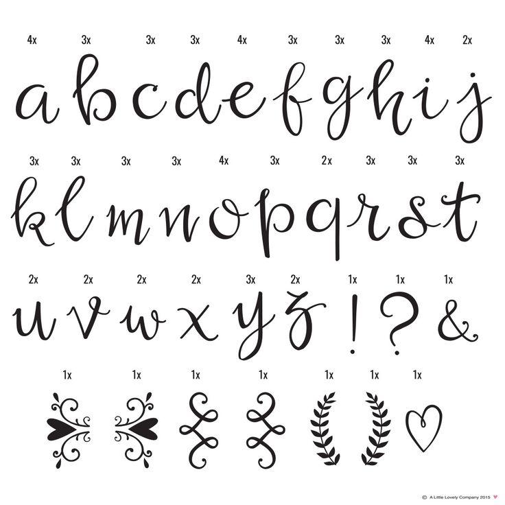 Letter Set Script  - A Little Lovely Company - RumAttÄlska.se