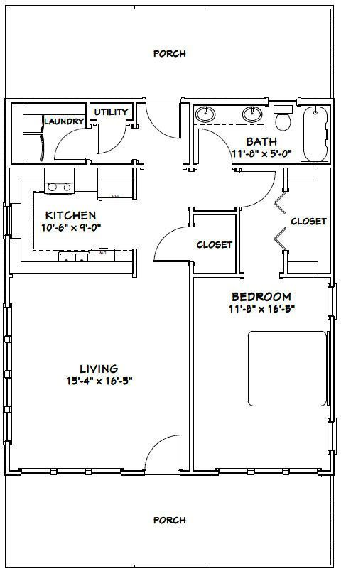 Shed Backyardshed Shedplans 28x32 House 28x32h1b 895 Sq Ft Excellent Floor Plans