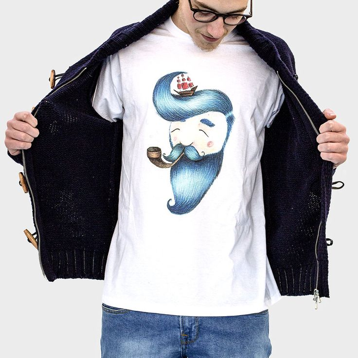 Blue Beard 100% cotton t-shirt di cocofactory su Etsy