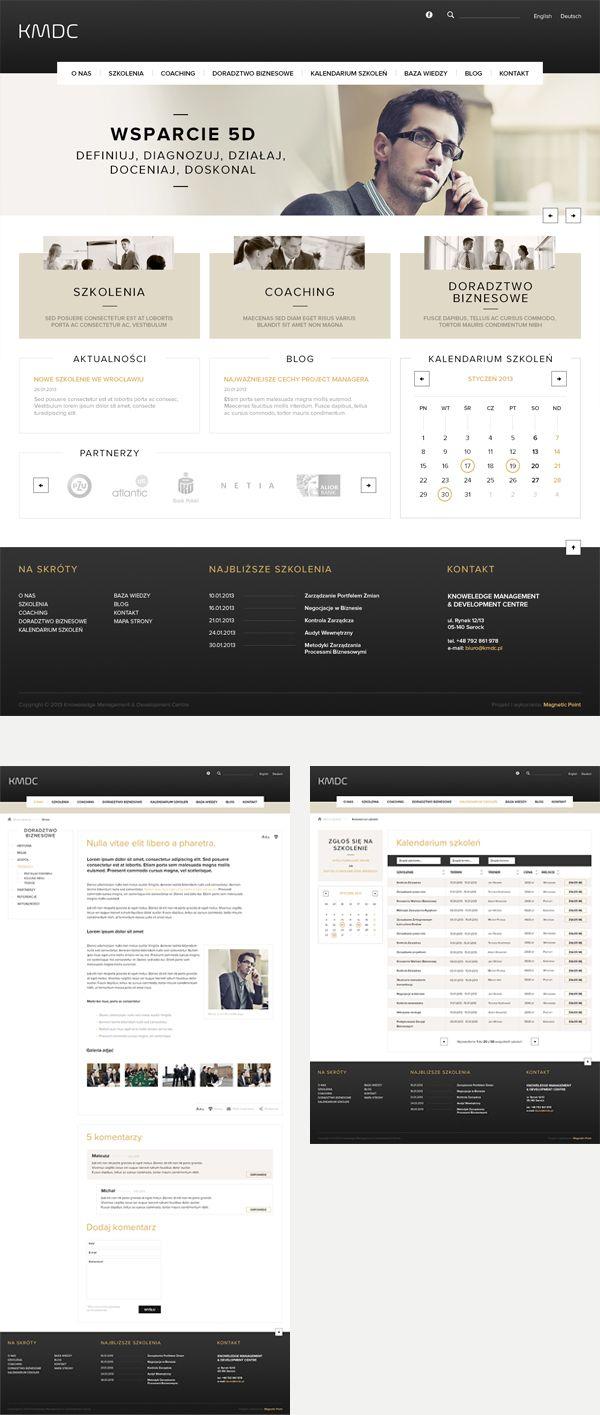 KMDC on Behance #webdesign