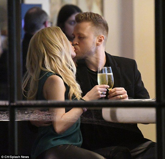 Celebrating: Newly-evicted CBB stars Heidi Montag and Spencer Pratt certainly couldn't have looked happier as they toasted their relationship during a loved-up date night on Monday