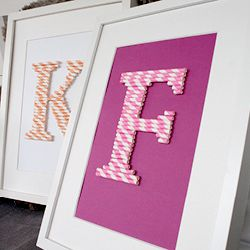 DIY with kids. How to make paper straw letters. Tutorial in Swedish.