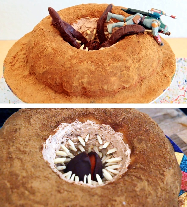 Pit of Carkoon Sand Cake (Sarlacc, Boba Fett and all!)