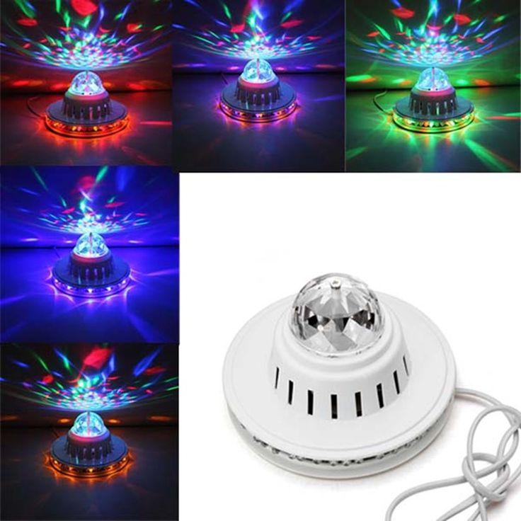 Дешевое 2015 новый стильный горячая распродажа полноцветный из светодиодов подсолнечника лампа лампы авто вращающийся MP3 кристалл свет этапа, Купить Качество Сценическое освещение непосредственно из китайских фирмах-поставщиках:     Спецификация:     Тип элемента: сценическое освещение Мощность: 8 Вт Напряжение: AC100V-240V 50-60 Гц Материал: плас