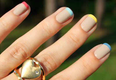manicure francés puntas de color