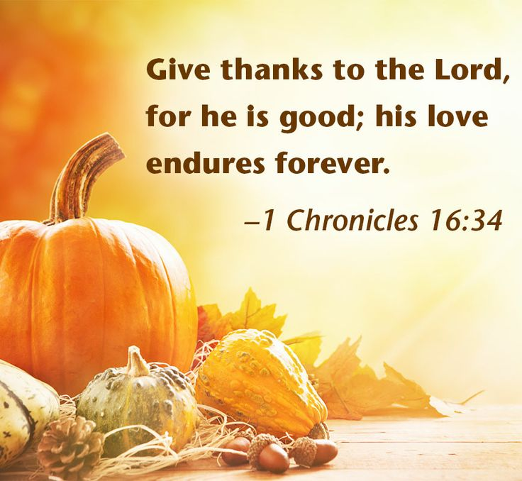 Thanksgiving harvest with Bible verse. 1 Chronicles 16:34