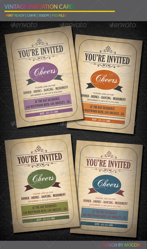 80 best Card \ Invite Designs images on Pinterest Print templates - birthday invitation card template photoshop