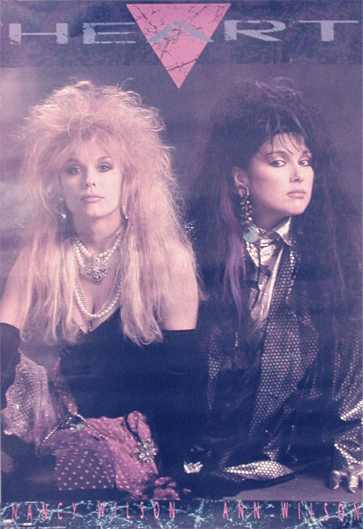 Nancy and Ann Wilson of rock band Heart #Heart