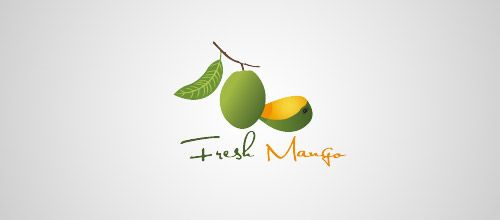 fresh mango logo design