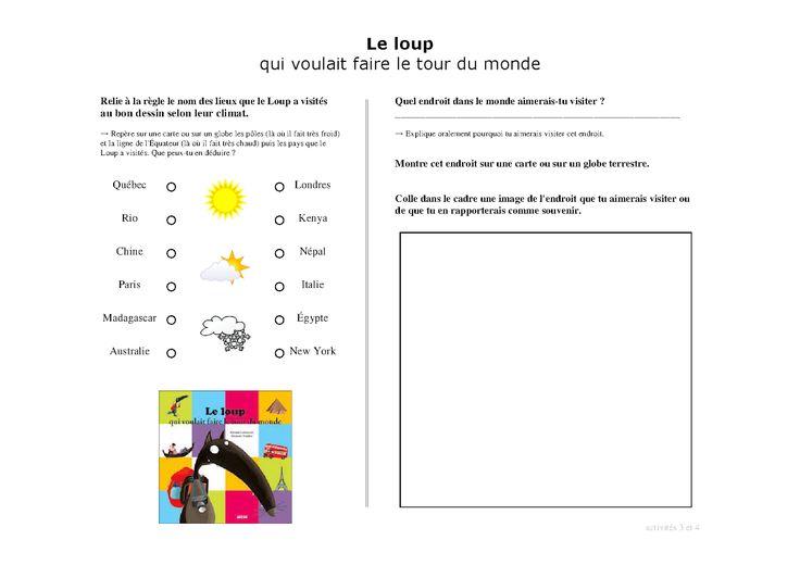 28 Best Images About Loup Qui Voulait Faire Le Tour Du