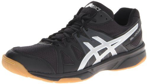 ASICS Men's Gel Upcourt Volley Ball Shoe,Black/Silver,6.5 M US. Lace entry. Synthetic. Rearfoot GEL® Cushioning System provides enhanced cushioning. Imported. A great value for the multi-court player. Combination synthetic leather and mesh upper provides breathability and comfort. Faux leather and mesh upper. Overlay accents. Indonesia. Full-length Gum Rubber Outsole for excellent traction on the court. Size: 6.5 D(M) US. Padded collar. Rubber sole. EVA midsole.