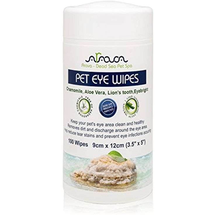 Arava pet eye wipes for dogs cats puppies and kittens