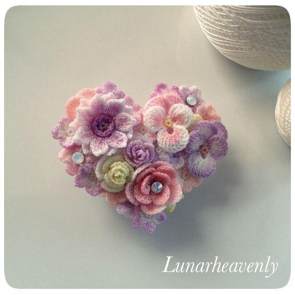 crochet brooch clip