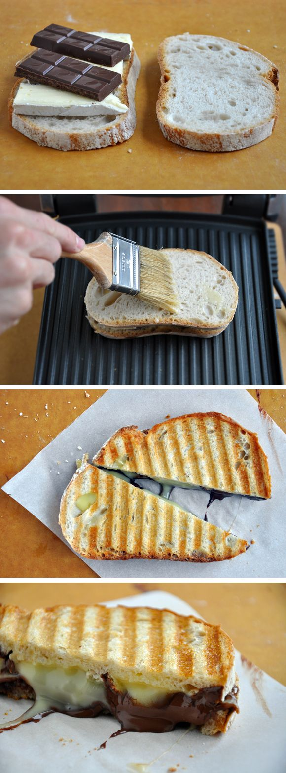 Chocolate and Brie Panini from justataste.com #recipe