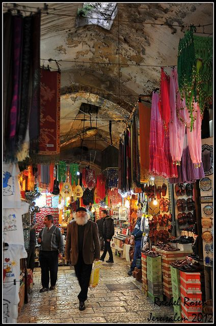 shops and lanes in the old city, Jerusalem but watch out for pickpockets LOL I was done over in 98