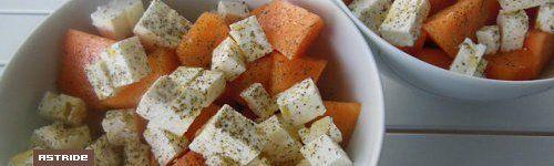 Salade melon,concombre et  féta
