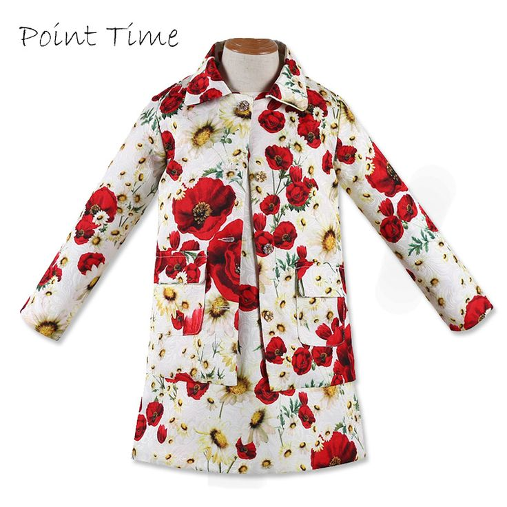 Cheap girls clothing, Buy Quality girls children clothing directly from China children clothing Suppliers: 2017 Baby Girls Clothing Sets Floral Pattern Kids Tracksuit Kids Coat and Dress Set Girls Children Clothing Wholesale D009
