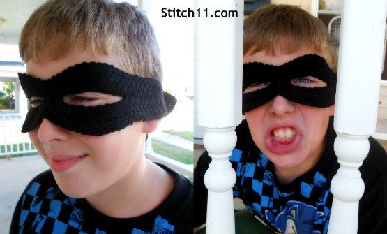 Free Bank Robber Crochet Mask Pattern