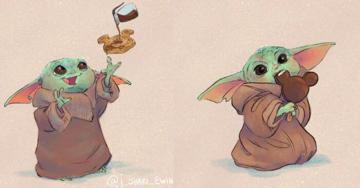 Pin By Inuyashar On Baby Yoda In 2020 Funny Baby Memes Yoda Funny Funny Star Wars Memes