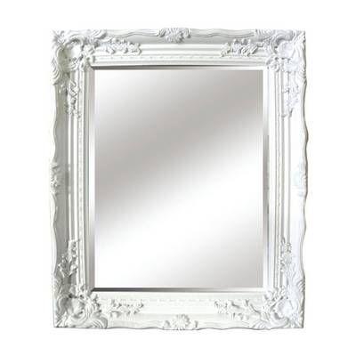 White Antique Ornate Mirror
