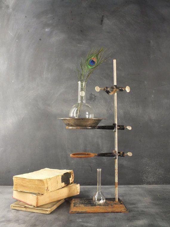 vintage 1950 scientific decor room tools | Vintage Pyrex N Kimax Laboratory Science Class Glass Beaker Vases