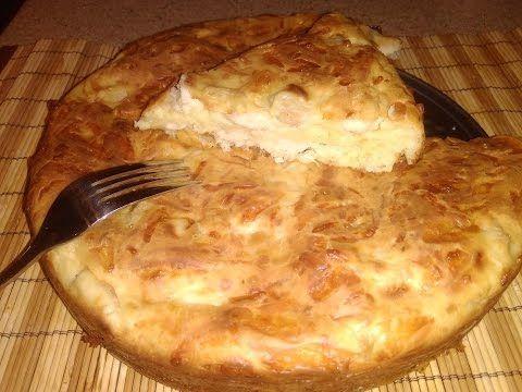 """Пирог с куриной грудкой и сыром на """" скорую руку"""" - Простые рецепты Овкусе.ру"""