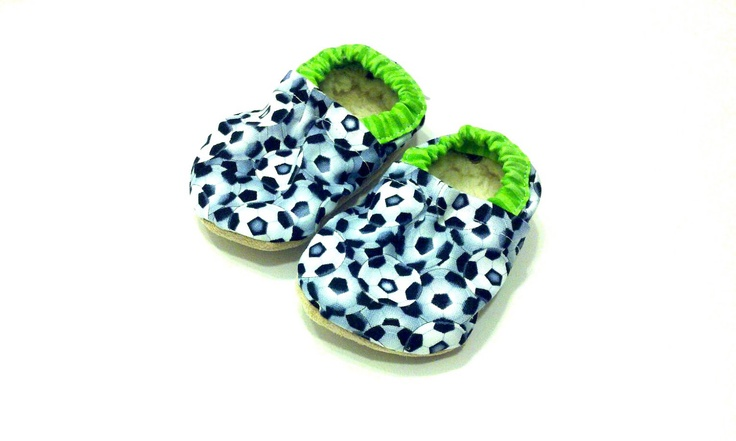 baby soccer shoes soccer booties baby boy shoes toddler soccer shoes green and black soccer balls baby soccer. $20.00, via Etsy.