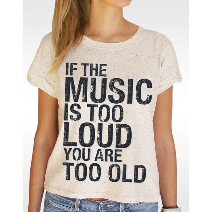 W89 MUSIC LOUD T-shirt Women's Speckled Rolled Up Sleeve T-shirt Available in 2 colours