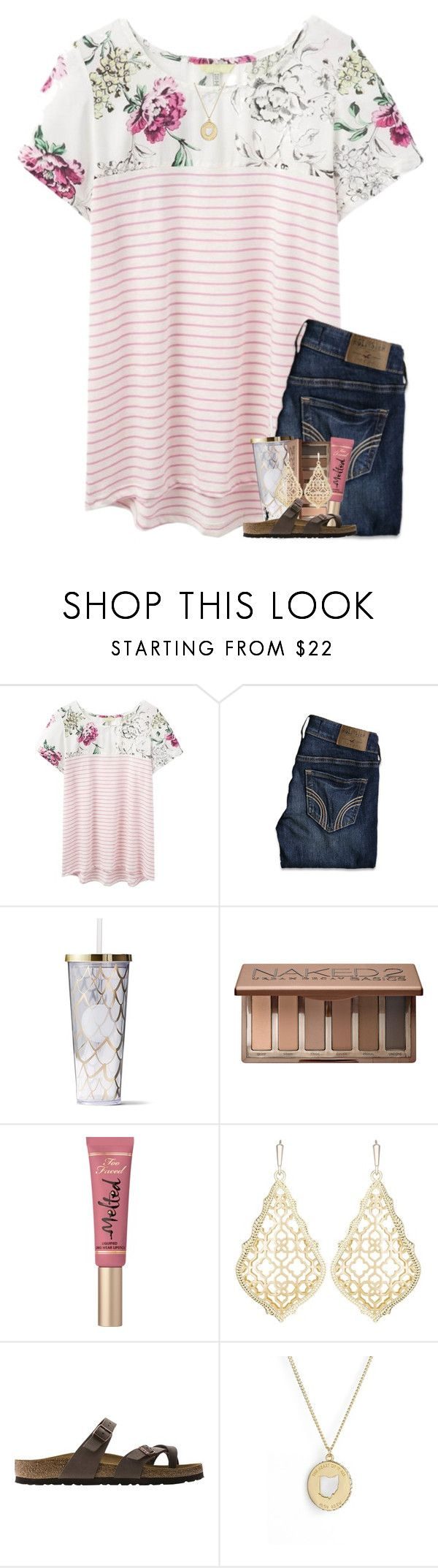 """giving you another chance"" by oliviajordyn ❤ liked on Polyvore featuring Joules, Hollister Co., Urban Decay, Too Faced Cosmetics, Kendra Scott, Birkenstock and Kate Spade"