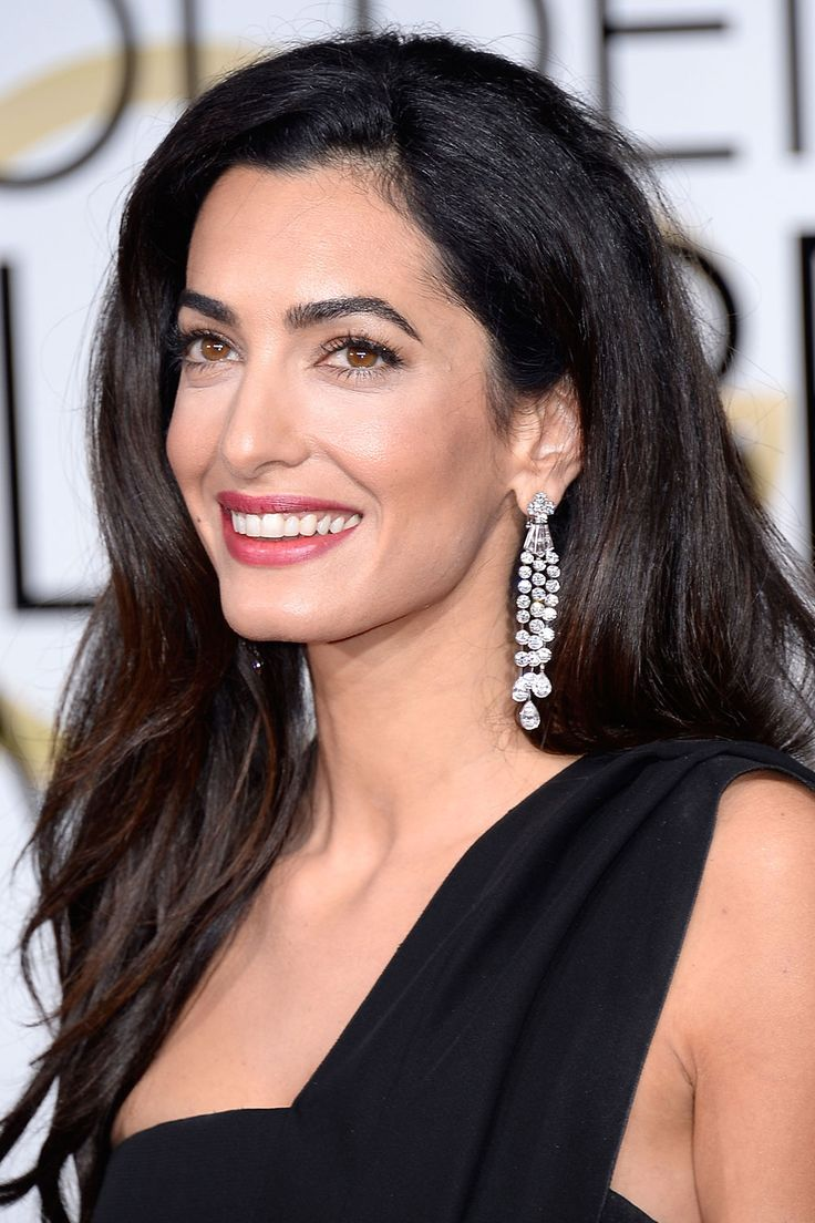 Amal Clooney wears Harry Winston diamond earrings