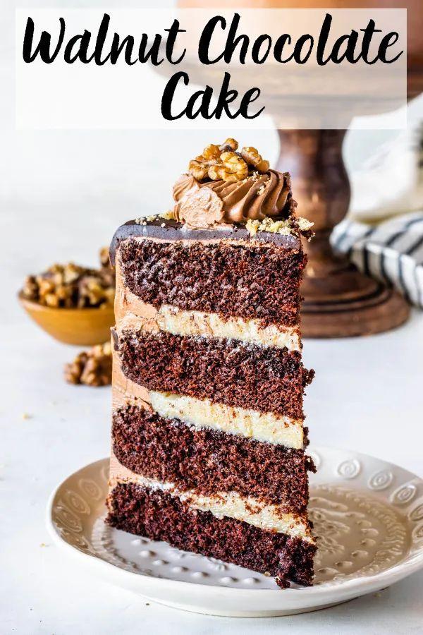 Walnut Chocolate Cake Recipe In 2020 Chocolate Cake Cake Boss Recipes Milk Dessert